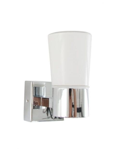 wnadlamp-badkamer-chroom-glaasje