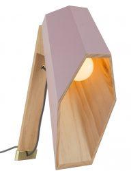 woodspot-tafellamp-seletti-roze-hout