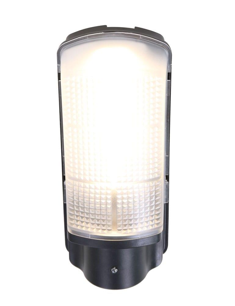 Zwarte sensor lamp voor in de tuin - Directlampen.nl