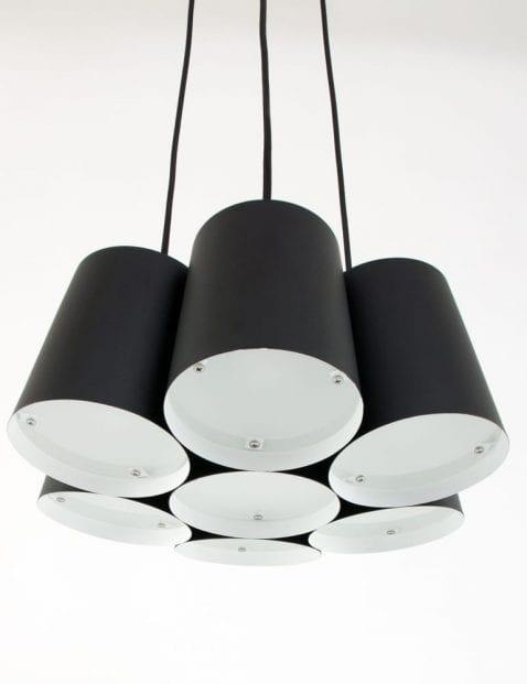 zwarte-hanglamp-freelight-7-lichts-bloem-vorm