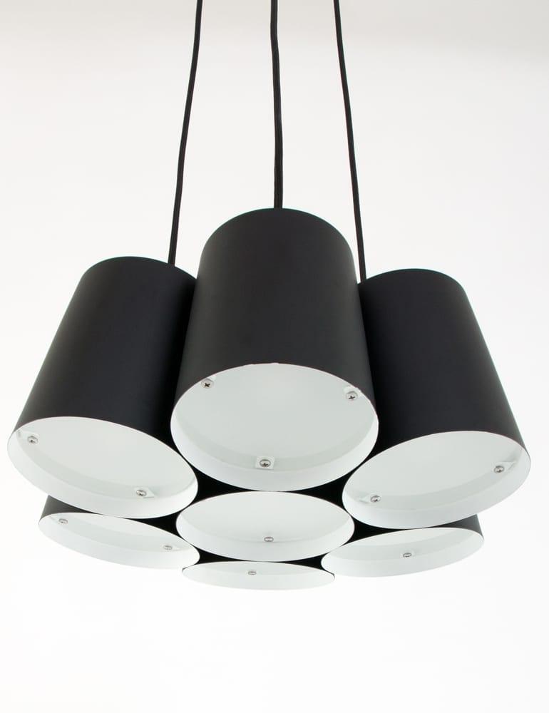 Speelse meerkappige hanglamp freelight aster zwart for Freelight lampen