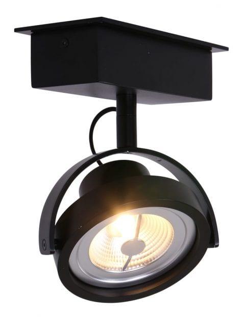 Zwarte grote spot LED Steinhauer Lenox