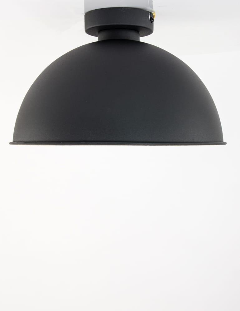 Populair Grote plafondlamp Trio Leuchten Jimmy zwart/goud ø31 cm EN99