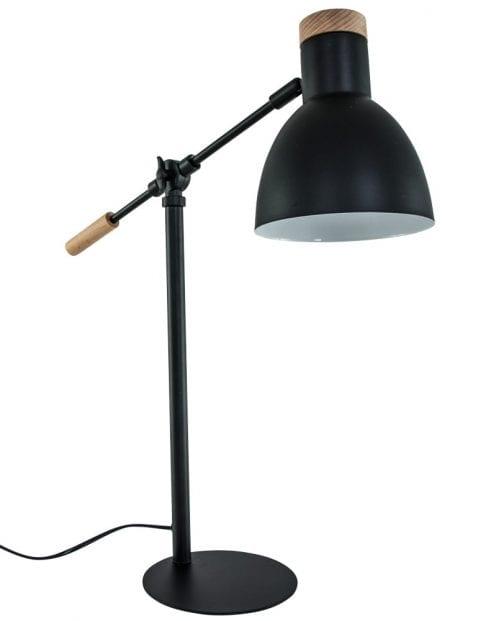 zwarte-scandinavische-tafellamp-met-hout