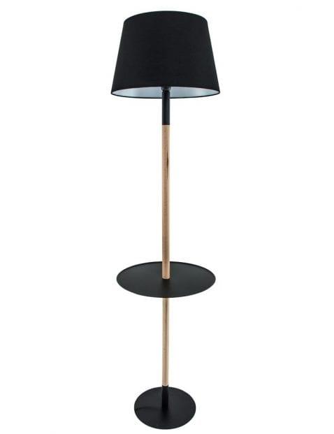 zwarte-vloerlamp-met-tafel-hout