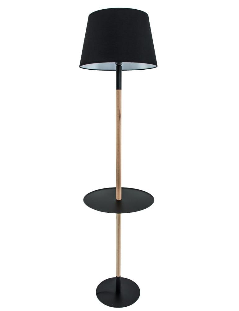 Bijzettafel Met La.Bijzettafel Vloerlamp La Forma Moskov Zwart 160 Cm
