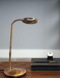 Bronzen tafellamp LED