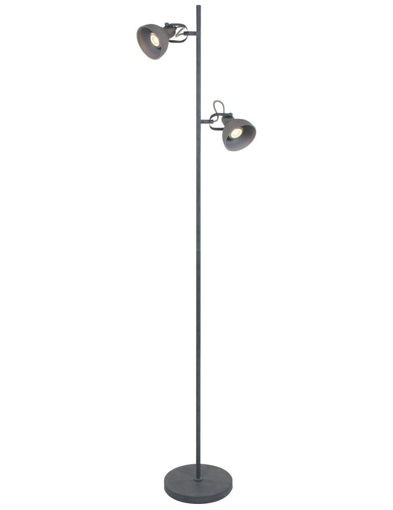 Beton grijze staande lamp freelight santo 155 cm for Freelight lampen