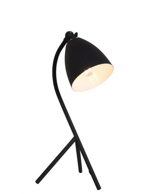 Zwart driepoot tafellampje Mexlite Lina