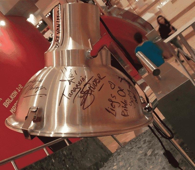 Lamp handtekeningen kwf
