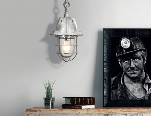 Scheepslamp-grijs