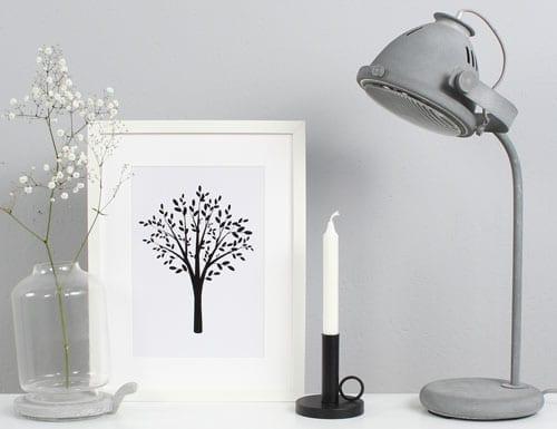 Woonkamer: vensterbanklampen