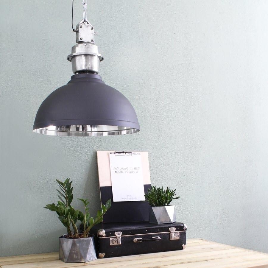 bikkel grijs hanglamp