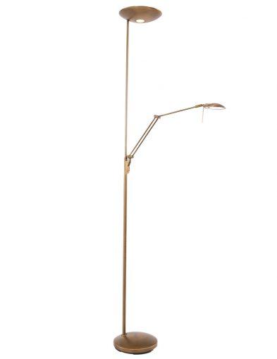 bronzen_vloerlamp_met_uplight_en_leeslamp