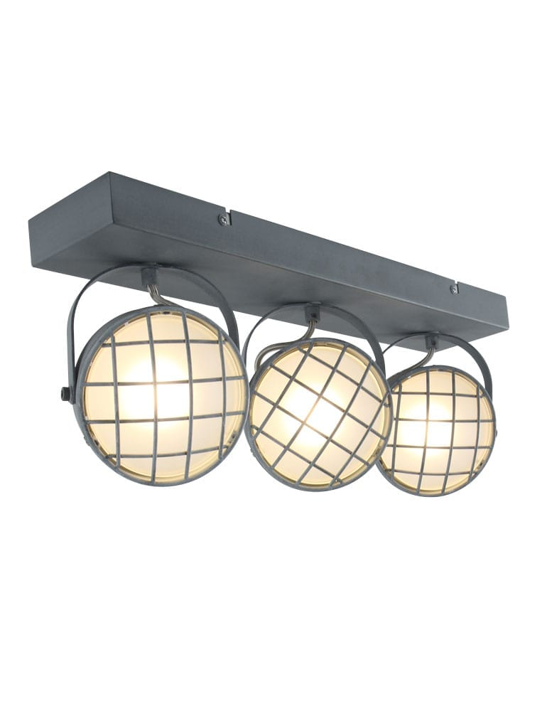 Praktische plafondlamp freelight lazaro olifant grijs for Freelight lampen
