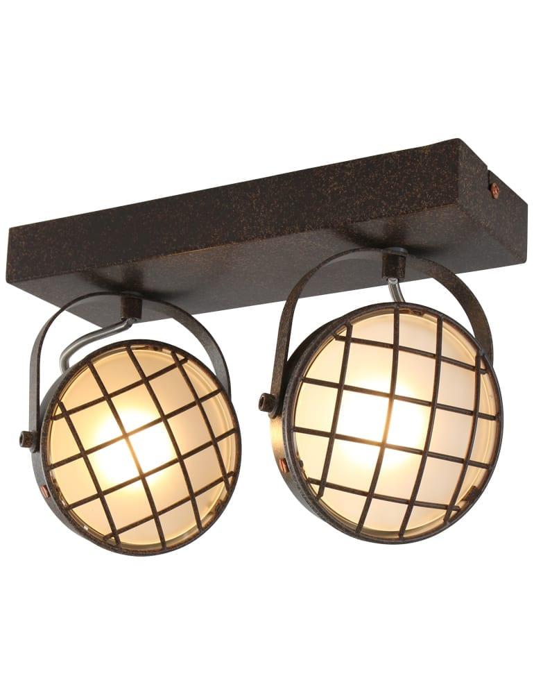 Tweelichts plafondspot freelight lazaro bruin for Freelight lampen