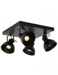 vierkante-plafonni_re-zwart-4-lichts