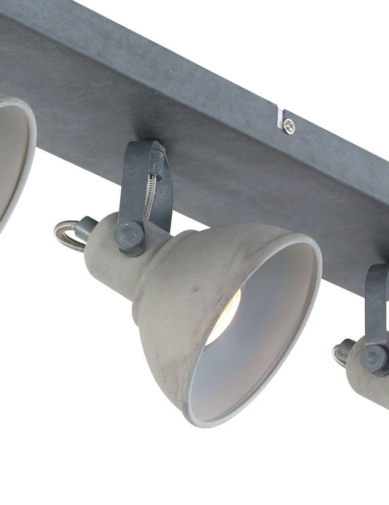 Praktische plafondlamp freelight santo grijs for Freelight lampen