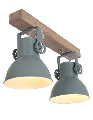 Industri le tweelichts lamp light living elay wit for Industriele spots
