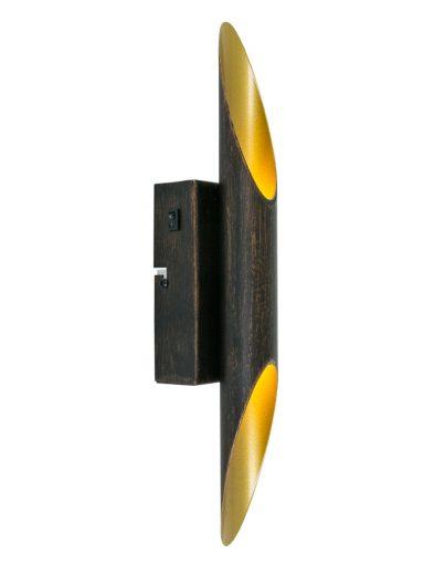 wandlamp-zwart-met-gouden-binnenzijde