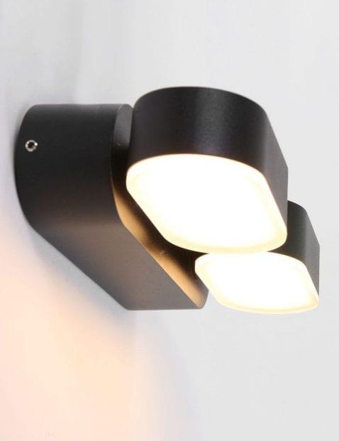 zwarte_2_lichts_buiten_wandlamp