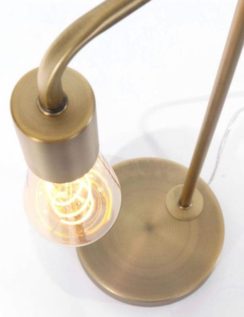 1 lichts brons tafellamp