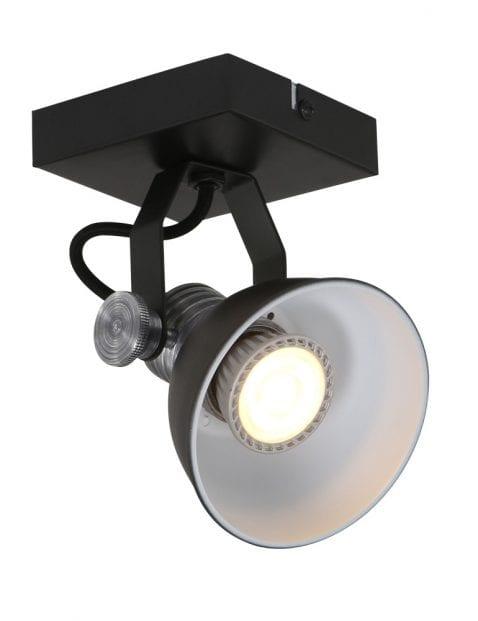 Stoere LED plafondspot Steinhauer Brooklyn zwart