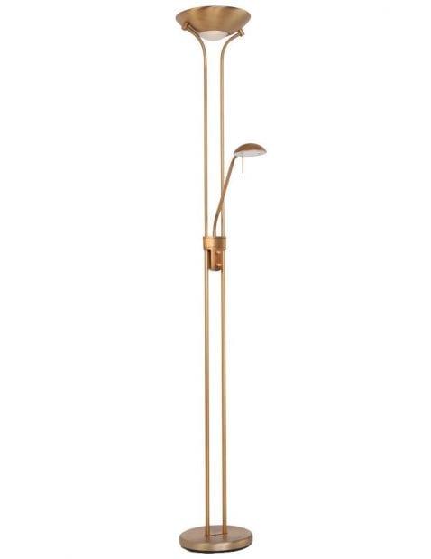 Bronzen staande leeslamp