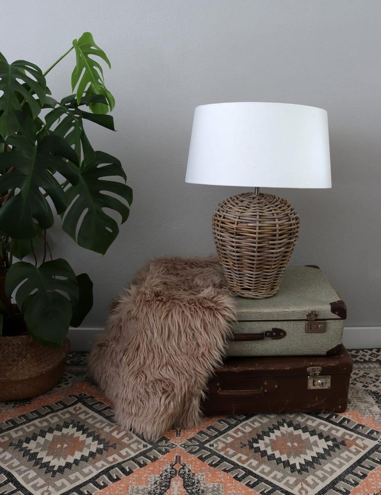 Landelijke Vaaslamp Light Amp Living Livigno Rotan