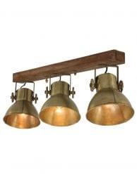 Drielichts-spot-bronskleurig