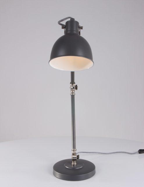 Grijze tafellamp stoer