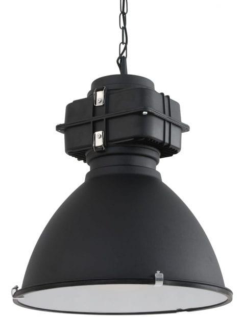 Industrielamp-industrieel-zwart-met-motorblok