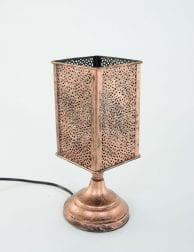 Kandelaar-koper-lampje-tafel