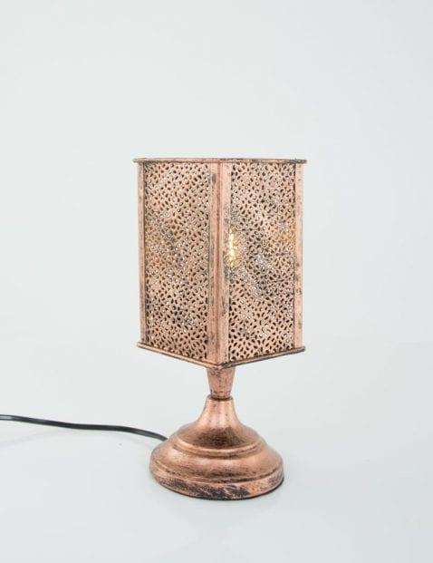 Kandelaar-tafellampje-koper