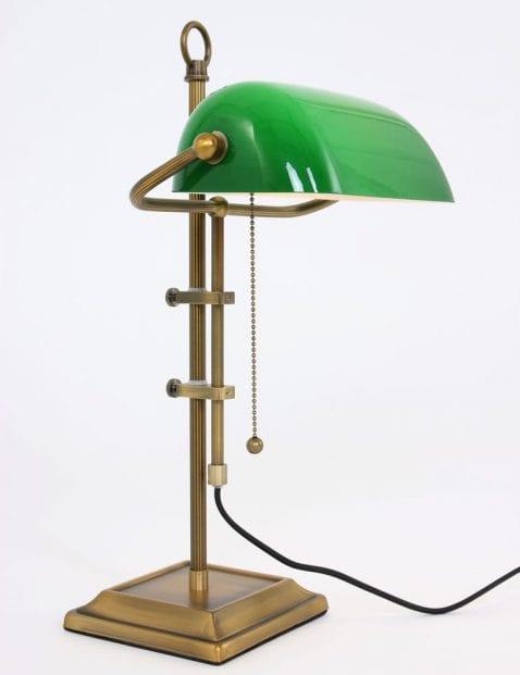 Klassieke-vloerlamp-groene-kap