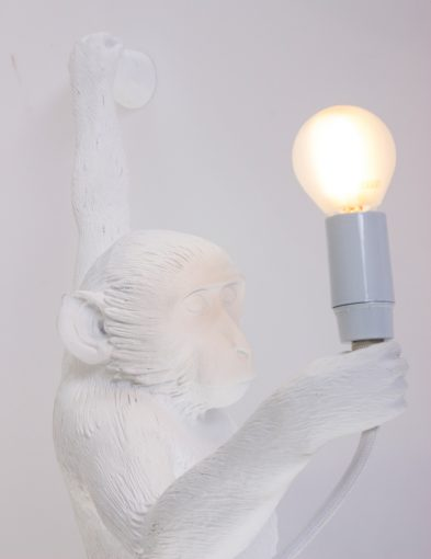 Muurlamp-aap-wit-monkeylamp-seletti