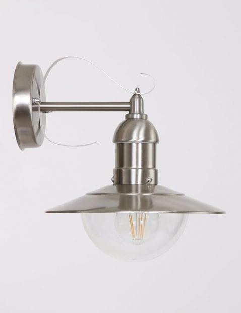 Stoer wandlampje staal
