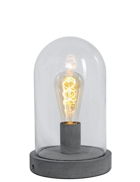 Stolp tafellamp Mexlite Fonzo grijs