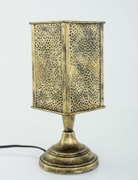 Tafellampje-brons-arabisch