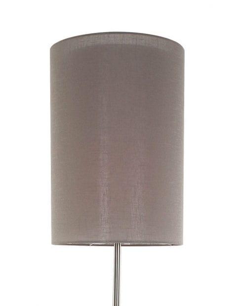 bolvormige vloerlamp kap lichtbruin
