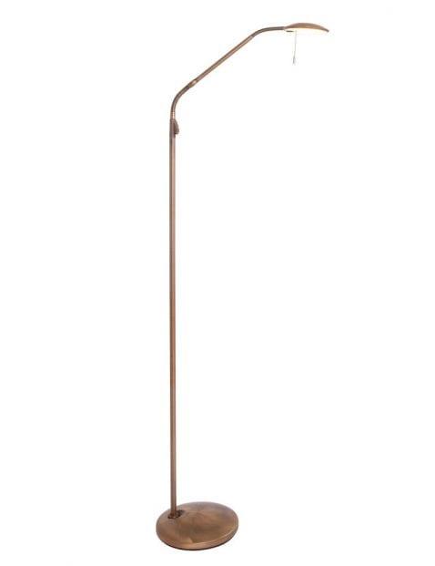 bronzen led leeslamp