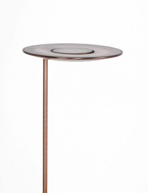 bronzen led vloerlamp