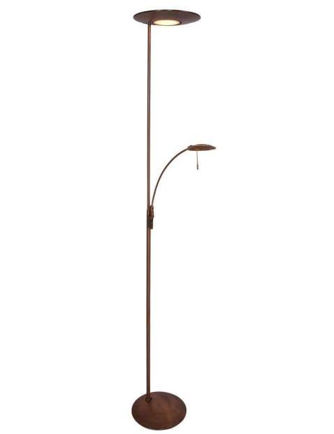 bronzen metalen vloerlamp
