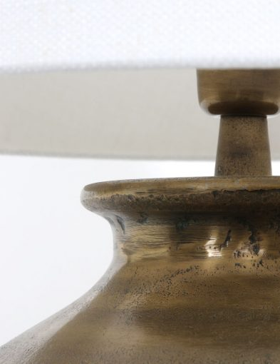 bronzen tafellamp