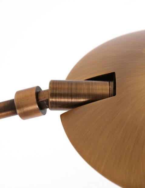 bronzen vloerlamp met leeslamp