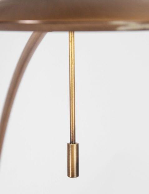 bronzen vloerlamp met verstelbare leeslamp