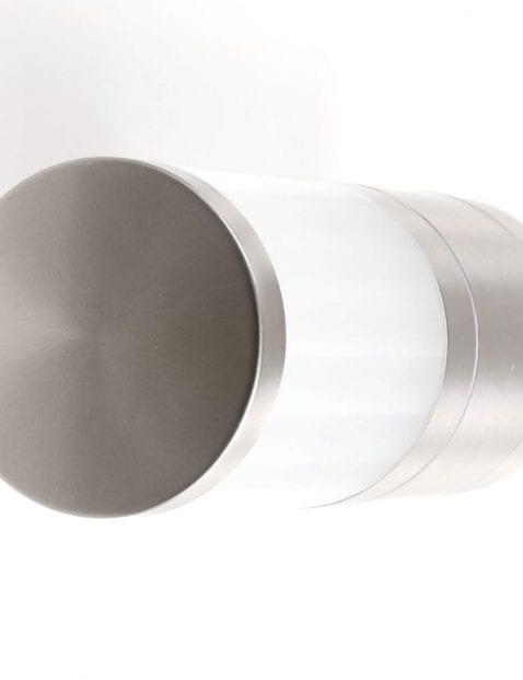 buitenlamp van glas en staal