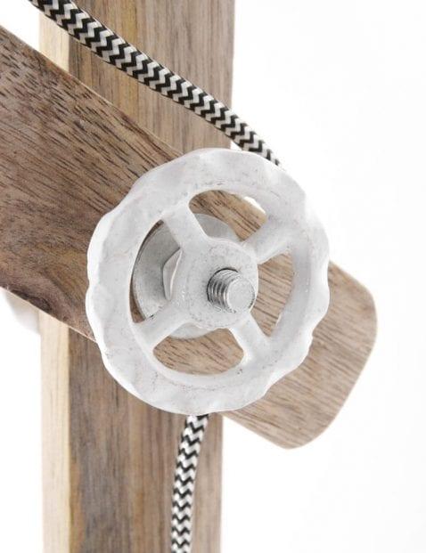 bureaulamp hout en metaal