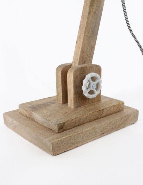 bureaulamp met witte kap