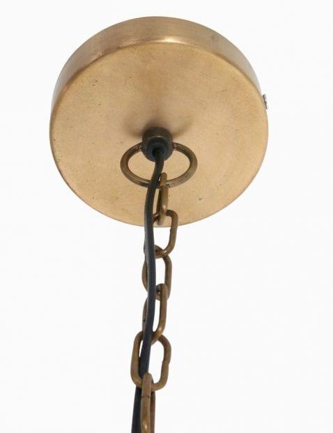draadlamp met goud en zwart metaal